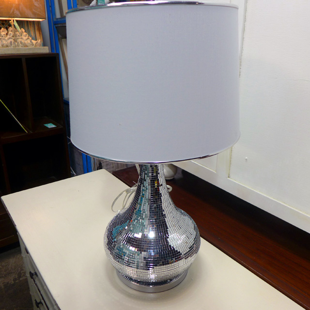 Mirror Mosaic Table Lamp on Nadeau Furniture Console