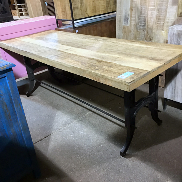 Charmant 82u2033 Industrial Dining Table