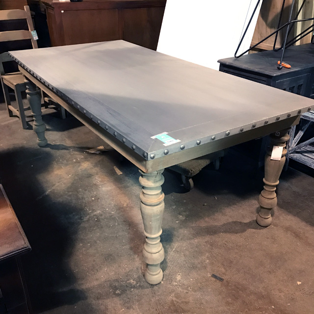 Beau Baluster Dining Table With Zinc Top