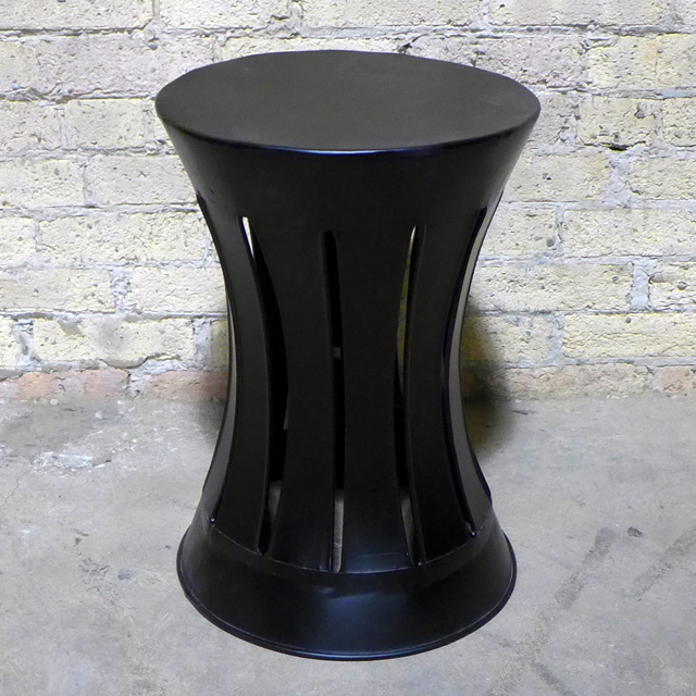 Iron tapered side table nadeau chicago