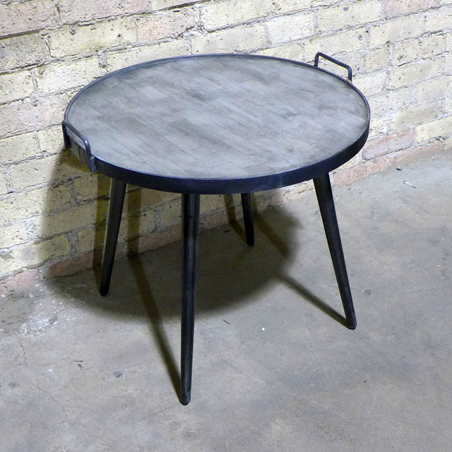 Superior Industrial Side Table With Handle