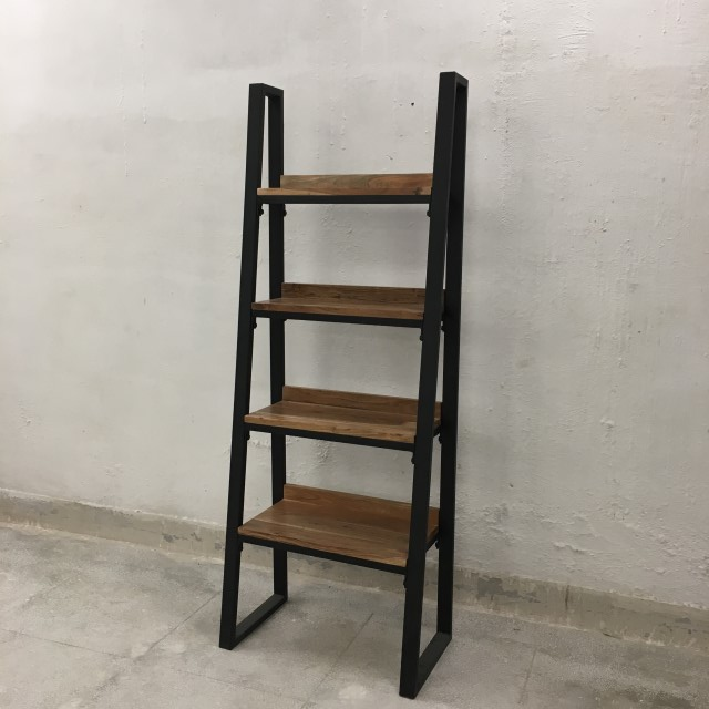 Angled Industrial Bookshelf Nadeau Houston