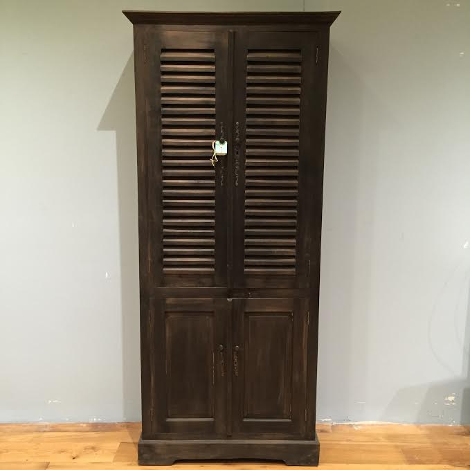 Louvered Kitchen Cabinet Doors: Four Door Louvered Cabinet