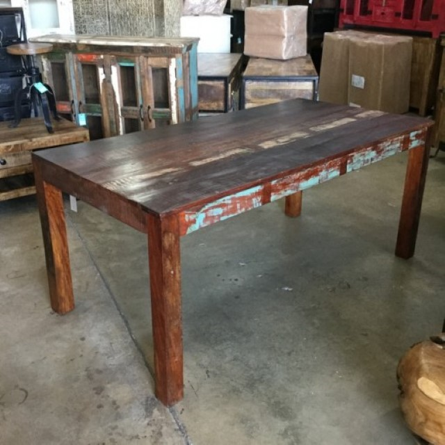 reclaimed wood dining table  nadeau baton rouge