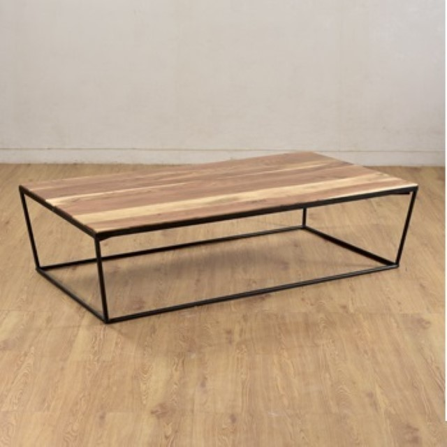 Iron And Wood Coffee Table Nadeau Charleston