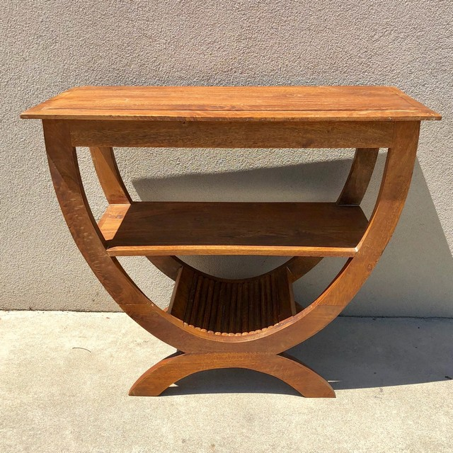 Half Round Table With Shelf Nadeau Columbia
