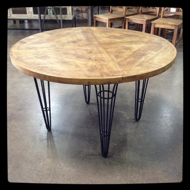 Industrial Round Dining Table: Industrial Round Dining Table