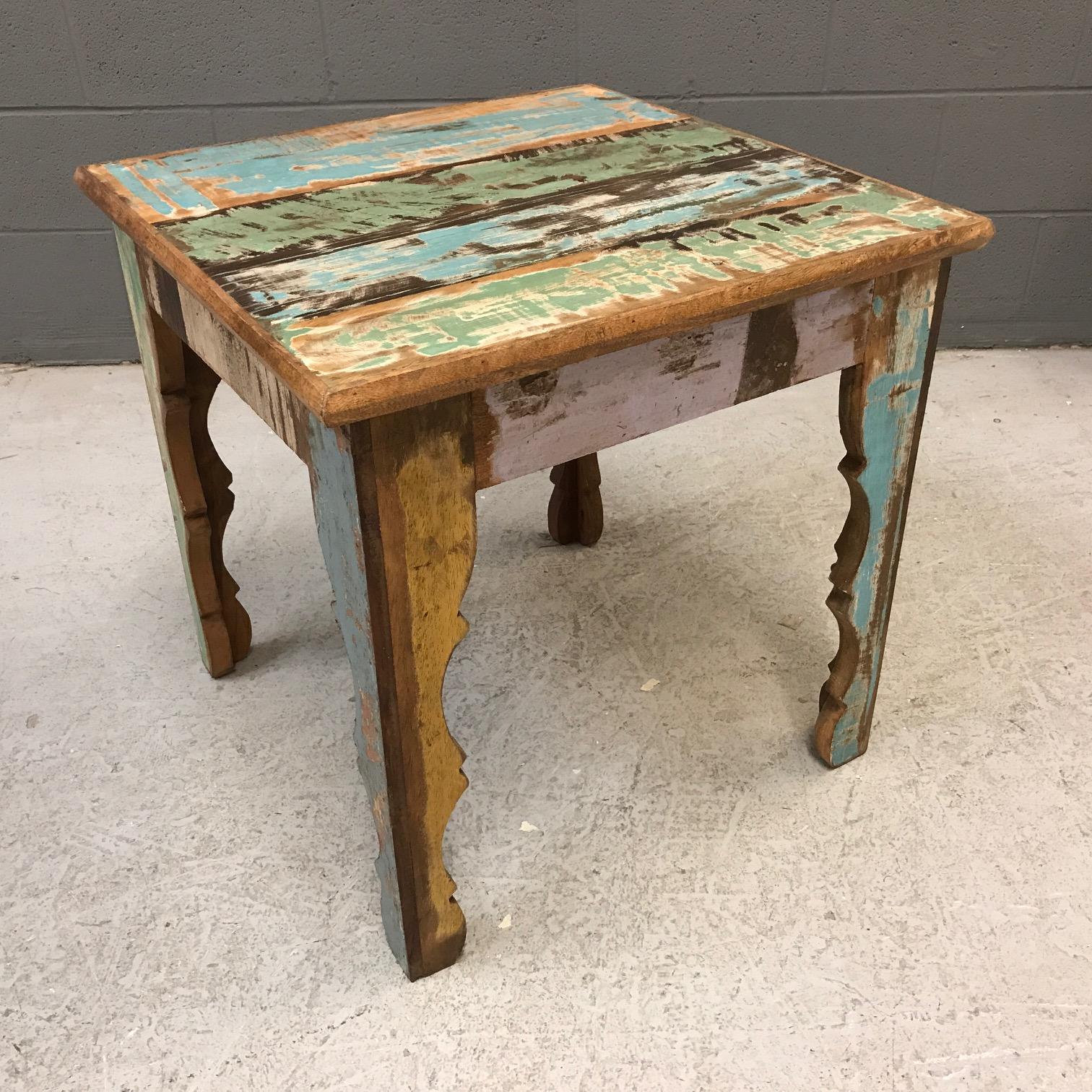 Super Reclaimed Wood Side Table - Nadeau Nashville VY43