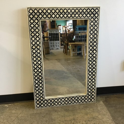 Bone Inlay Mirror Nadeau Raleigh