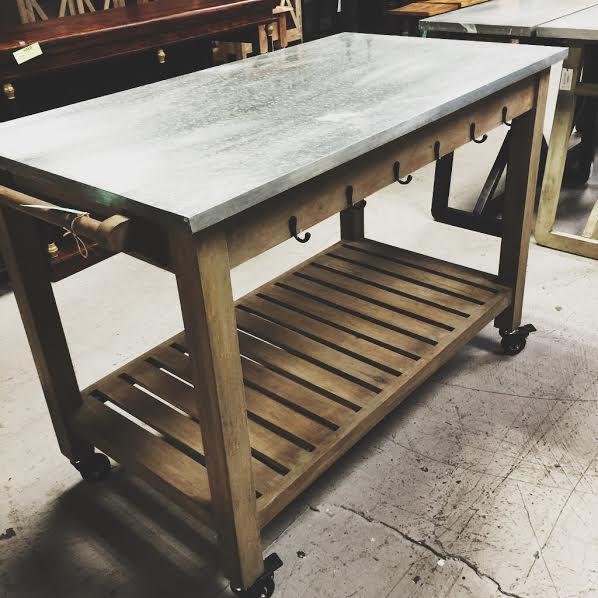 Kitchen Table On Wheels Nadeau Birmingham