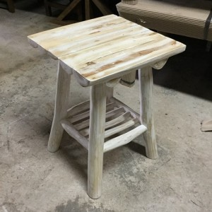 Groovy Square Stool Teak Wood White Wash Squirreltailoven Fun Painted Chair Ideas Images Squirreltailovenorg