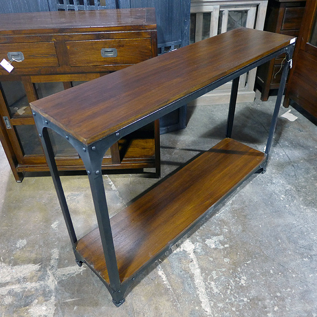 iron wood console table iron and wood console table nadeau chicago 4803
