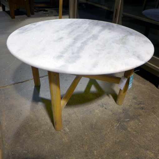 Lorenz Round Marble Coffee Table: Round Marble Coffee Table