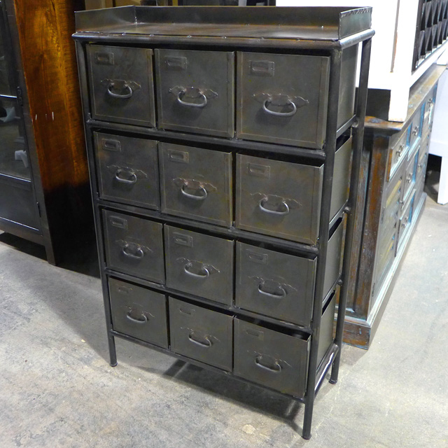 Industrial Dresser With Metal Drawers Nadeau Chicago