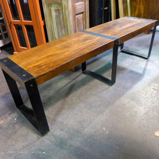 Iron And Wood Bench Nadeau Chicago