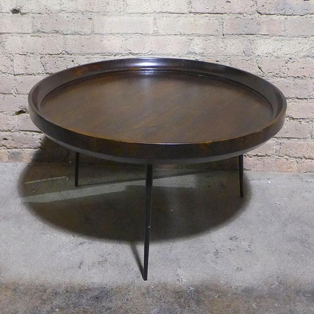 b724bec9329ca Iron Leg Round Coffee Table - Nadeau Chicago